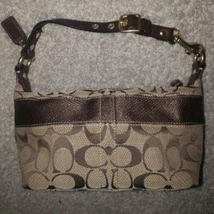 COACH Signature Stripe Small Handbag